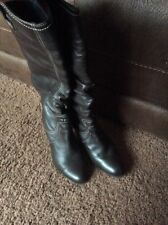 Moda In Pelle Size 5 Brown Leather Knee High Boots