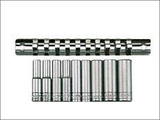 "Teng M1407 Deep 9 Socket Set Metric 10 Piece 1/4"" Drive on Clip Rail 4mm - 13mm"
