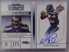 2016 Panini Contenders Draft Class Alex Collins Seattle Seahawks ON CARD Auto