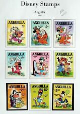 ANGUILLA 1981 EASTER DISNEY MICKY MOUSE CARTOONS 9v FINE MH STAMPS