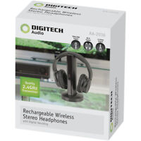Rechargeable Wireless Stereo Headphones with Digital Decoding