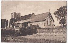 Hampshire; St Mary's, Broughton PPC, Local 1923 PMK, To Mrs Waite, Boscombe