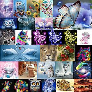 Art Craft Home Decor Gift 5D DIY Diamond Painting Animal Embroidery Mosaic Kit