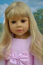 Masterpiece Dolls Amber Blonde Wig, Fits up to 19 inch Head