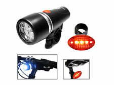 LED Fahrradleuchte Licht Set Power Beam Fahrradlicht Lampe Fahrrad Zubehör 5xLED