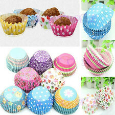 100Pcs/Set Colorful Rainbow Cake Cupcake Liners Baking Muffin Case Cups