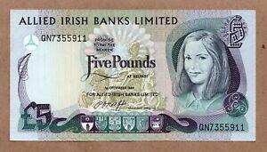 IRELAND NORTHERN - ALLIED IRISH BANKS - 5 POUNDS 1.12.1984 - P2c - UNCIRCULATED