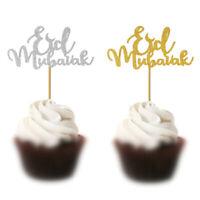 5pcs Eid Mubarak Cake Toppers Ramadan Party Decor Muslim Cake Picks Baking CQ