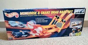 1993 Hot Wheels Mongoose & Snake Drag Race Set (New Old Stock) • MATTEL