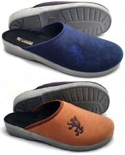 Herren moderne Samt Clogs HausSchuhe Pantoffeln mit fester Laufsohle 40-46 NEU