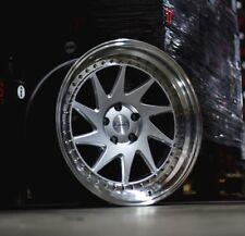 19X9.5/10.5 ESR SR09 5x114.3 +22 Silver Rims Fits Ford Mustang 350Z 370Z
