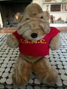USMC Vintage Marines Drill Bulldog Stuffed Plush Mary Meyer Marine Corps