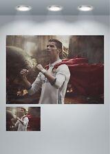 Cristiano Ronaldo Real Madrid Fútbol gran impresión de arte cartel