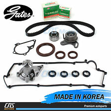 Gates Timing Belt Kit Water Pump Valve Cover Gaskets for 06-11 Hyundai Kia 1.6L