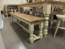 RECLAIMED PAINTED 6' LOW BENCH BESPOKE SIZES & COLOURS F&B DORSET CREAM