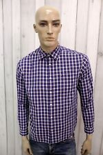 TOMMY HILFIGER Taglia S Camicia Uomo Cotone Shirt Chemise Casual Manica Lunga
