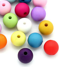 """100PCs Lots Acrylic Spacer Beads Round Mixed 10mm(3/8"""")Dia."""