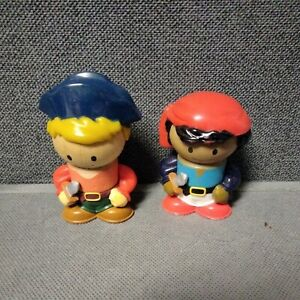 2 PIRATES Learning Curve Playtown Pirate Wooden Figures