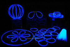 "50- 8"" Blue Glow Stick Bracelets Party Pack"