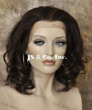 Heat OK Lace Front Wig med. Wavy  Realistic Brown mix KN 4-27
