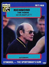 1990 Scanlens Stimorol No. 167 Kevin Bartlett Richmond Tigers Near Mint