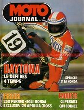 MOTO JOURNAL  546 Test HONDA CBX 1000 Fritz EGLI PERNOD 250 Aprilia 125 APS 1982