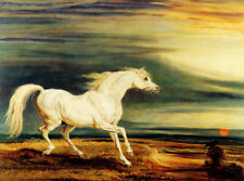 NAPOLEON HORSE MARENGO AT WATERLOO PAINTING BY JAMES WARD ON CANVAS REPRO 12x16