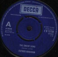"FATHER ABRAHAM the smurf song/the magic flute smurf FR 13759 uk 1977 7"" WS EX/"
