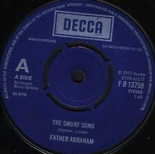 """FATHER ABRAHAM the smurf song/the magic flute smurf FR 13759 uk 1977 7"""" WS EX/"""