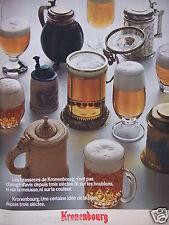 PUBLICITÉ 1972 KRONENBOURG UNE CERTAINE IDÉE DE LA BIÈRE - ADVERTISING