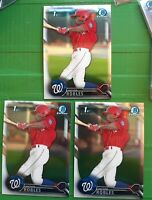 2016 Bowman Chrome Victor Robles BCP10 1st Bowman Washington Nationals Lot of 3