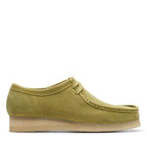 Clarks Originals Wallabee Men's Suede Moc Toe Low Top Shoes 26146513 Khaki