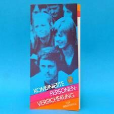 Komb. Personenversicherung 1977 | Werbung Prospekt DDR Staatl. Versicherung