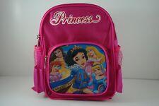 Disney Princess Belle Aurora Snow White School Kids Backpack Rucksack Bag +CHARM