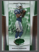 Marvin Harrison 2007 Leaf Certified Materials Auto Mirror Emerald 1/5