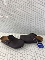 Birkenstock BOSTON Anthracite Birko-Flor Slip On Buckled Clogs Women's Size 39 N