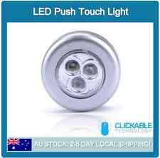 Home Wall Night Camping Tent Touch Push Lamp Light Car 3 LED Battery Powered