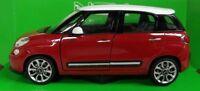 Nex models 1/24 Scale 24038W 2013 Fiat 500L Red White Diecast model car