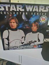 Star Wars Collector Series Han Solo & Luke Skywalker new stormtrooper gear 1996