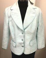 ECI New York Women's Mint Alabaster Lined Blazer/Jacket Long Sleeve Size 12 NWT.