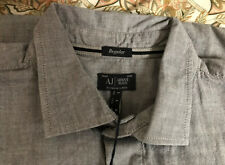 BNWT Armani Jeans Men's Shirt Grey L