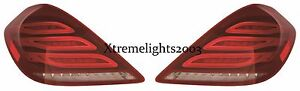 FITS MERCEDES BENZ S CLASS SEDAN 2014-2017 S550 TAIL LIGHT TAILLIGHTS LAMPS PAIR