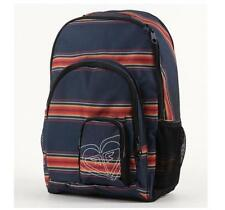 WOMEN'S GIRLS ROXY NOBLE TREK BACKPACK NAVY STRIPE MULTI LOGO SCHOOL BAG NEW $55
