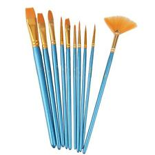 10Pcs/Set Nylon Acrylic Oil Paint Brushes For Art Artist Supplies Watercolor
