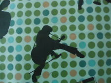 Elvis by VIP Cranston Early Elvis '56 Dark Green Dots Gold  Fat Quarter