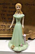 1981 Enesco GrowingUp Birthday Girlporcelain Figurine Blonde 15Years Msrp $21.50