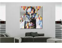 Gandhi - Kobra Graffiti - Canvas Wall Art Print - Various Sizes