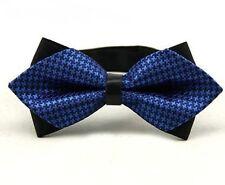 Nœud Papillon/Bowtie Luxe Noir/bleu Accessoires Costume Homme Mariage Noël R1