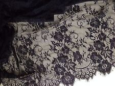 2.9 metres  French Lace  Stretchy Bridal Wear Evening Dress Fabric 150 wide