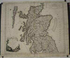 SCOTLAND 1803 DELAMARCHE & ZATTA LARGE UNUSUAL ANTIQUE COPPER ENGRAVED MAP